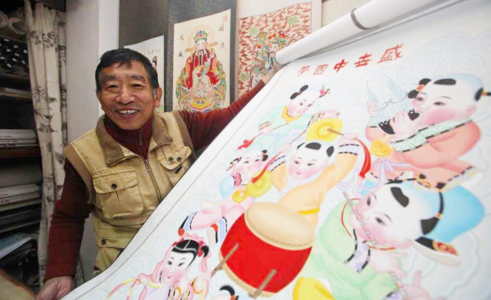 """传承人杨柳青木版年画霍庆有:掌握五项技能的""""全能""""艺人[组图]"""