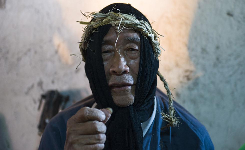 湘西高椅傩戏传承人杨国顺:不戴面具是人,戴上面具是神[组图]