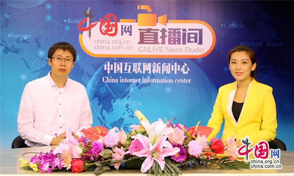 北京吉利学院人文与设计学院副院长马飞老师接受中国网采访 摄像(中国网 刘昌)