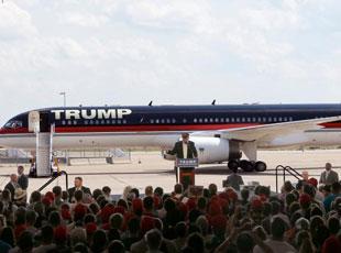 """特朗普乘私人客机竞选 成本1亿美元""""壕""""气尽显"""