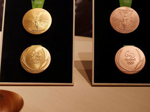 巴西里约奥运会奖牌正式面世