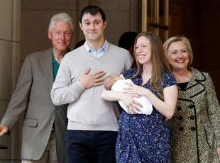 切尔西生二胎 希拉里克林顿添外孙幸福满溢