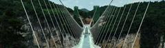 张家界大峡谷玻璃桥完成桥梁施工开放在即