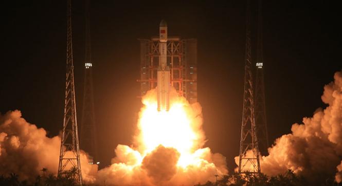 长征七号运载火箭在海南文昌发射成功
