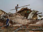 盐城龙卷风灾区重建忙 村庄逐渐恢复生气