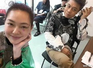 小S晒与蔡康永合影:163天没见面