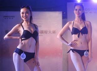 精功模特大赛重庆赛区泳装秀吸睛