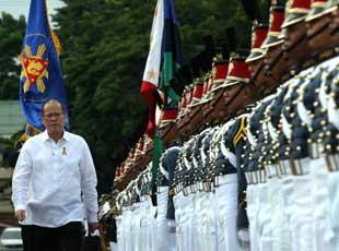 阿基诺即将离任 菲军举办阅兵式送别