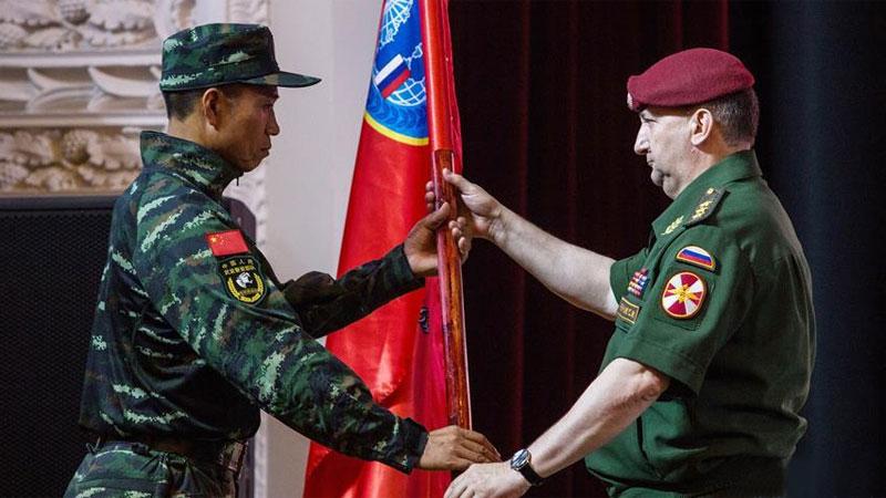 """中俄""""合作-2016""""聯合反恐訓練舉行啟動儀式"""