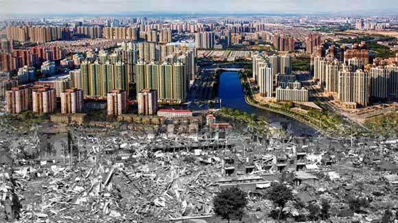 唐山地震40周年·废墟上站起一座城