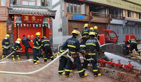丽江市政府投入9560万加快大研古城消火栓建设