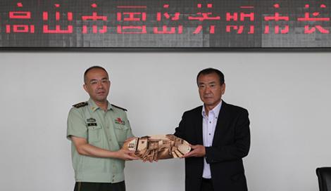 日本高山市市长一行参观云南丽江消防支队