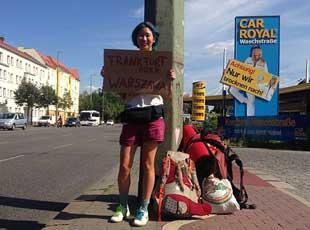 马来一女子搭便车穷游22国 随身只带200美元