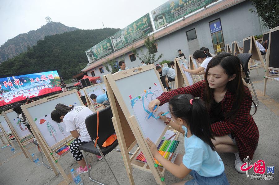 太阳村娃娃游石林峡,绘制心中美景_图片中国
