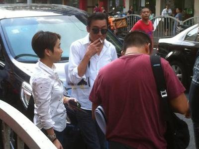 梁家辉在上海被交警开罚单