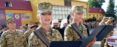 乌克兰国立陆军学院近日举行隆重开学典礼