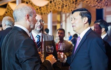 """""""一带一路""""国际研讨会欢迎酒会在西安举行"""