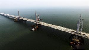 港珠澳大桥主体桥梁工程9月27日全线贯通