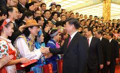 第五届全国少数民族文艺会演开幕式文艺晚会举行