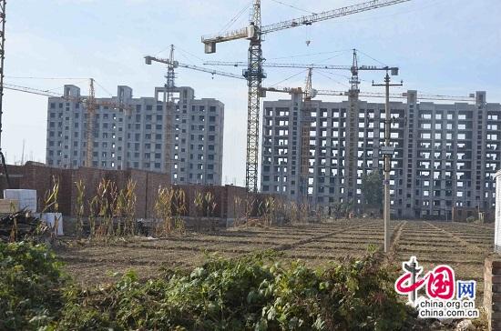 河北任县永五村未经审批在耕地上私建高楼出售