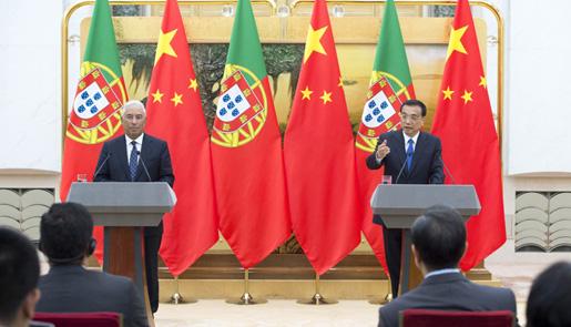 李克强与葡萄牙总理科斯塔共同会见记者
