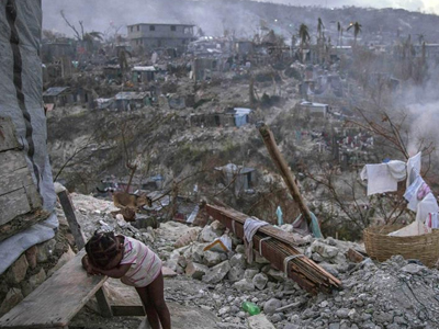 """飓风""""马修""""重创海地"""