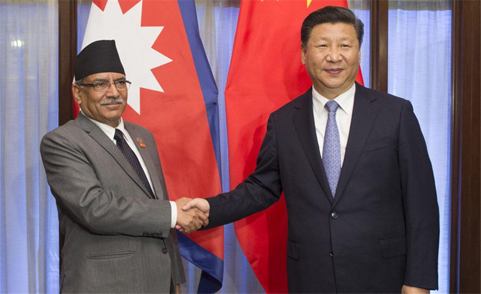 习近平会见尼泊尔总理普拉昌达