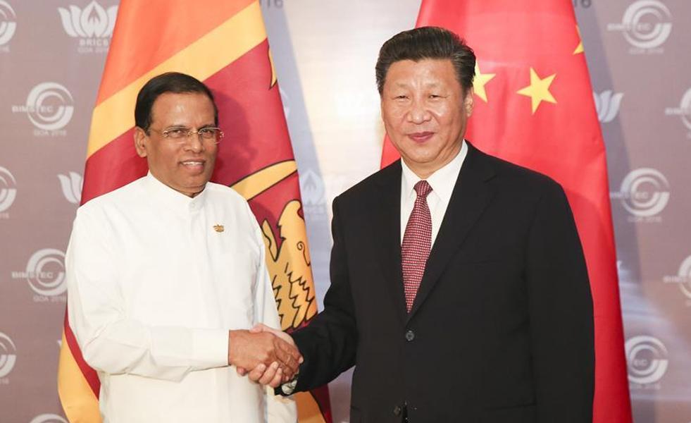 习近平会见斯里兰卡总统西里塞纳