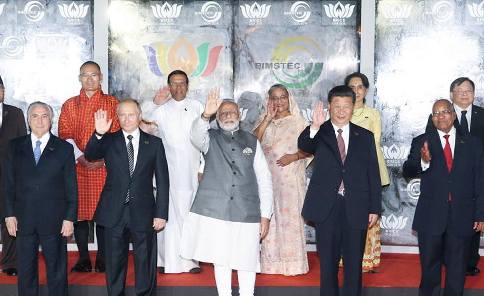 """习近平出席金砖国家领导人同""""环孟加拉湾多领域经济技术合作倡议""""成员国领导人对话会"""
