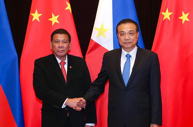李克强会见菲律宾总统杜特尔特