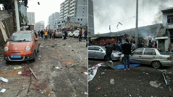 陕西府谷一建筑发生爆炸 威力巨大有人员受伤