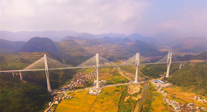 """赤石大桥今将通车运营 创下七个""""世界第一"""""""