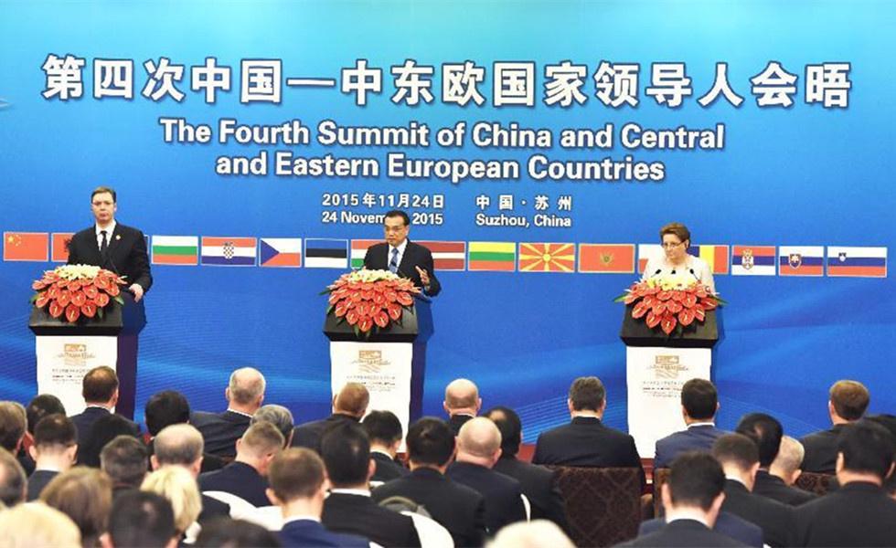 李克强与塞尔维亚总理、拉脱维亚总理共同会见记者
