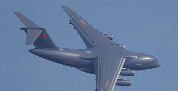 2016珠海航展:中国空军运-20进行表演训练