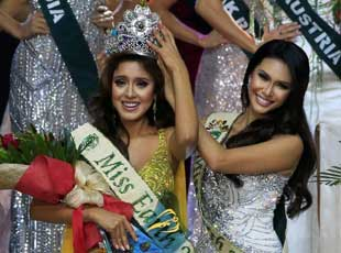 2016地球小姐出炉 厄瓜多尔佳丽加冕
