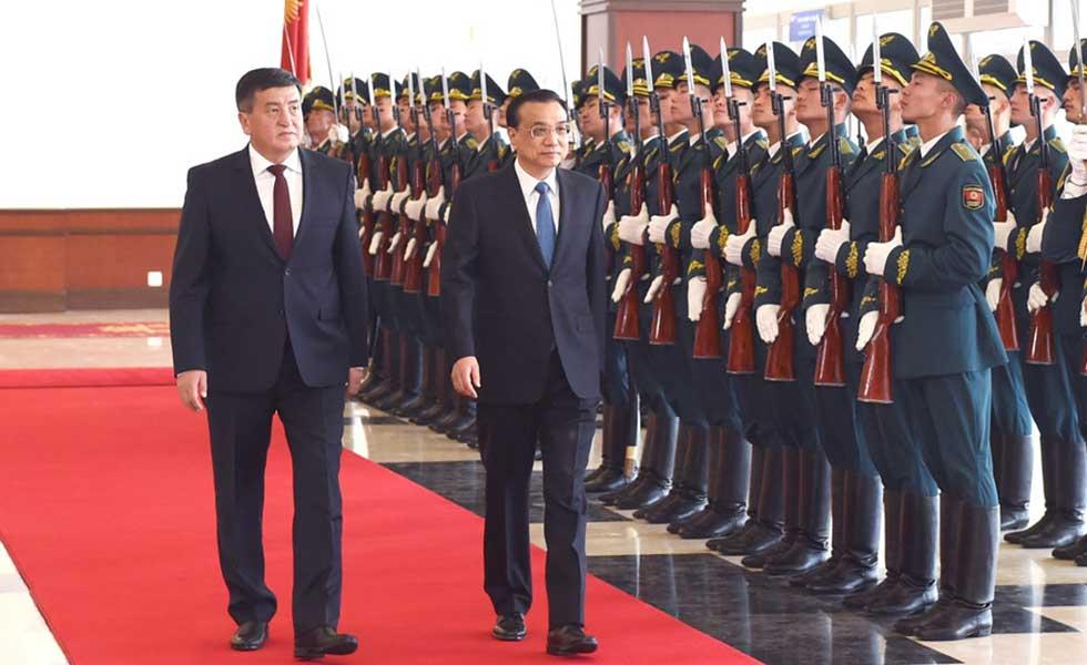李克强抵吉进行正式访问并出席上合组织成员国政府首脑(总理)理事会会议