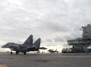 俄航母舰载机在地中海亮剑