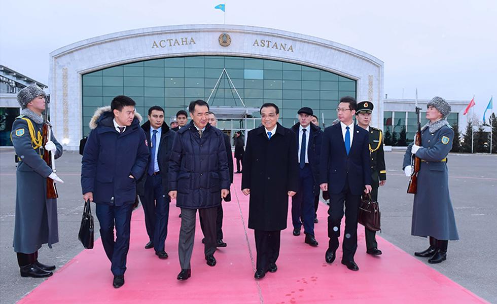 李克强离开哈萨克斯坦前往拉脱维亚