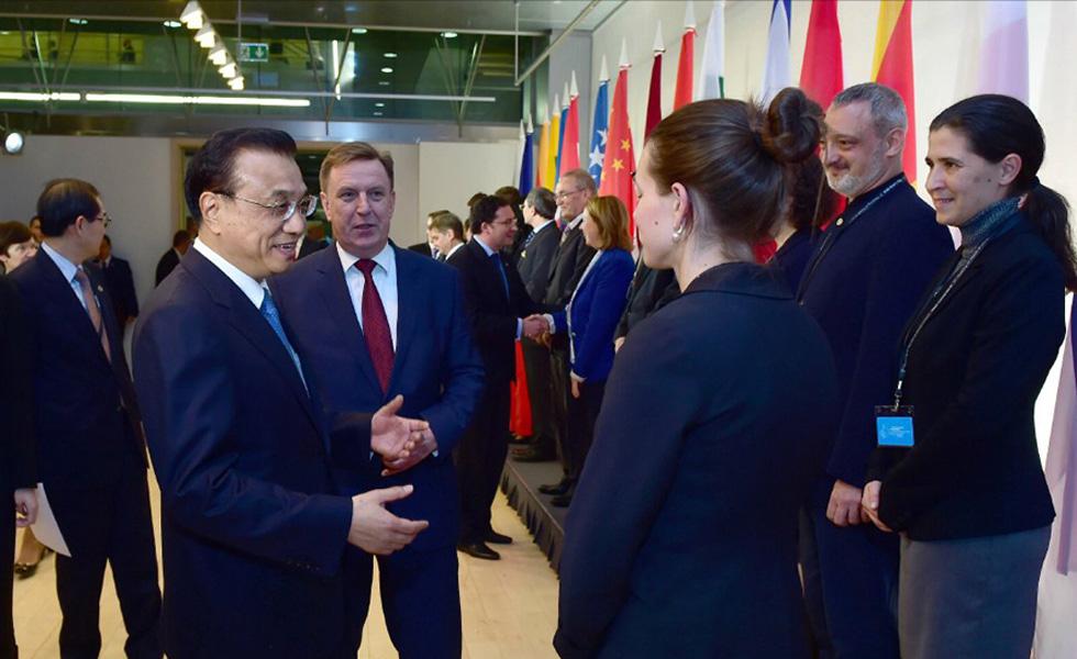 李克强会见中东欧国家汉学家代表