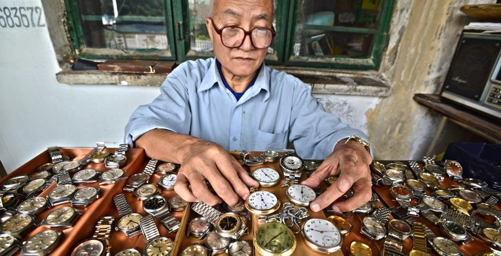 花甲老刘和他的钟表铺