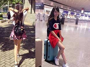"""又现""""千年一遇美女"""" 台湾女大学生腿长1米2"""