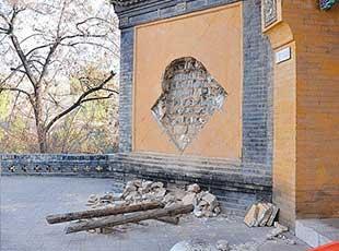山西文物频繁被盗 琉璃精品被从墙上割下