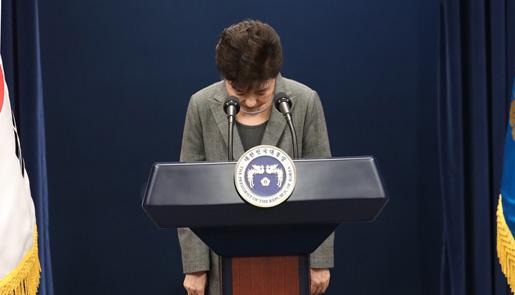 朴槿惠发表第三次国民谈话:去留问题交国会处理