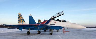 """俄""""勇士""""飞行表演队接装第二批4架苏-30SM战机"""