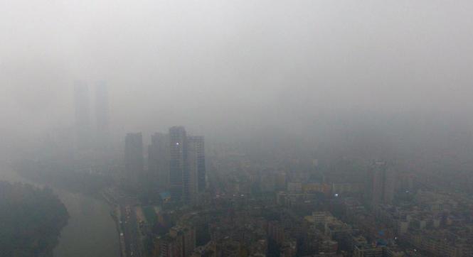 四川盆地入秋后第三次区域性污染 蜀地变黑白片
