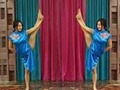 穿旗袍练瑜伽的成都90后女孩