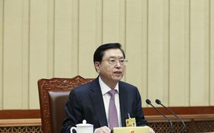 张德江主持十二届全国人大常委会第二十四次会议闭幕会