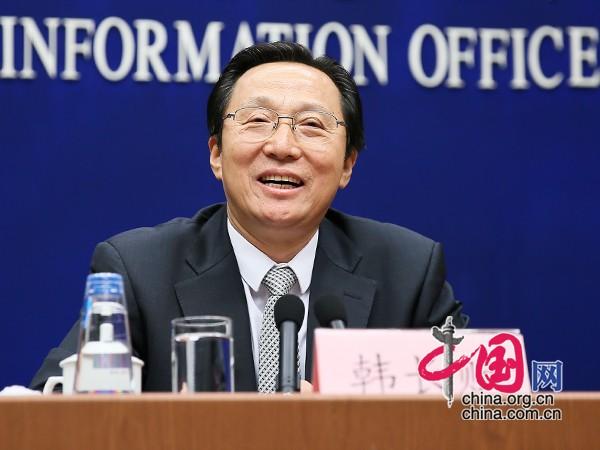 农业部部长韩长赋发言