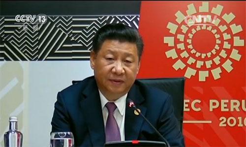 视频截图:习近平出席APEC利马峰会并发表重要讲话