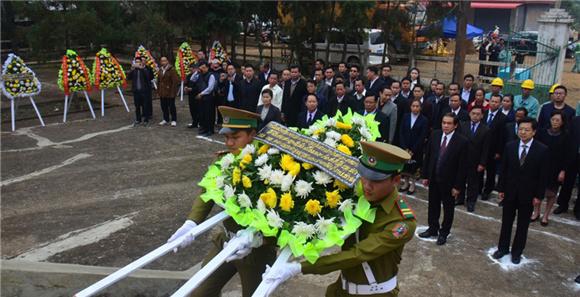 老挝纳莫中国烈士陵园修缮工程开工